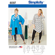Buy Simplicity Women's Tunic Sewing Pattern, 8097 Online at johnlewis.com