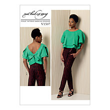 Buy Vogue Women's Top and Trousers Sewing Pattern, 1507 Online at johnlewis.com