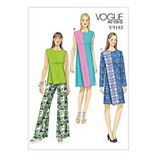 Buy Vogue Misses' Women's Dress and Top Sewing Pattern, 9185 Online at johnlewis.com