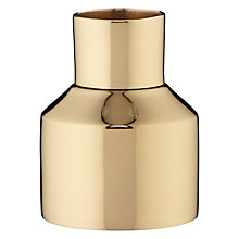 Buy Design Project by John Lewis No.054 Candlestick Holder, Shiny Brass Online at johnlewis.com