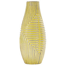 Buy west elm Linework Teardrop Vase with Maze Pattern, Yellow Online at johnlewis.com