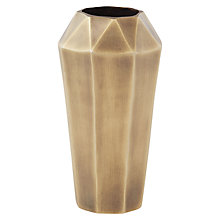 Buy west elm Faceted Metal Vase, Medium Online at johnlewis.com