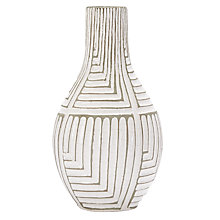 Buy west elm Linework Maze Short Teardrop Vase Online at johnlewis.com