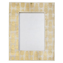 "Buy John Lewis Pineapple Frame, 5 x 7"" (13 x 18cm), Gold Online at johnlewis.com"