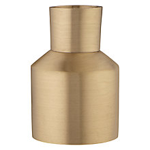 Buy Design Project by John Lewis No.054 Candlestick Holder, Matt Brass Online at johnlewis.com