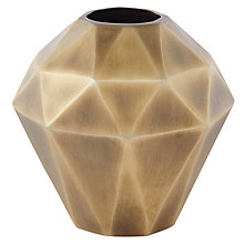 Buy west elm Faceted Wide Metal Vase, Brass Online at johnlewis.com