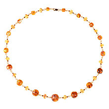 Buy Alice Joseph Vintage 1930s Gold Filled Opaline and Foil Venetian Glass Bead Necklace, Citrine/Pink Online at johnlewis.com