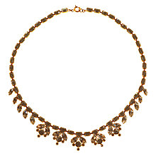 Buy Alice Joseph Vintage 1950s Gold Toned Diamante Collar Necklace, Gold Online at johnlewis.com