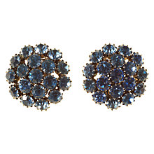 Buy Alice Joseph Vintage 1950s Silver Toned Diamante Clip-On Earrings, Light Blue Online at johnlewis.com