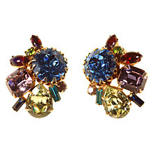 Buy Alice Joseph Vintage 1950s Alice Caviness Gold Toned Diamante Clip-On Earrings, Multi Online at johnlewis.com