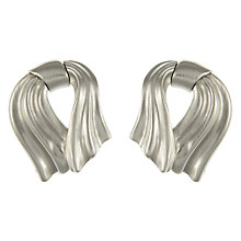 Buy Eclectica Vintage 1980s Monet Chrome Plated Abstract Stud Earrings, Silver Online at johnlewis.com