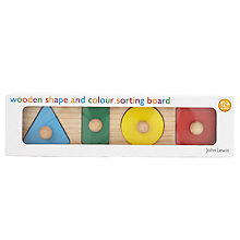 Buy John Lewis Wooden Shapes and Colour Sorting Board Online at johnlewis.com