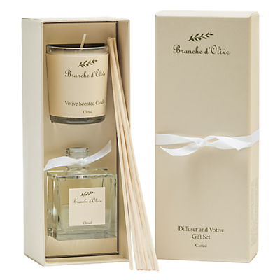 Image of Branche D'Olive Cloud Diffuser & Votive Gift Set