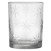 Buy John Lewis Etched Star Tealight Holder, 7cm Online at johnlewis.com
