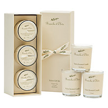 Buy Branche D'Olive Green Fig/Cloud/Old Rose Votive Gift Set Online at johnlewis.com