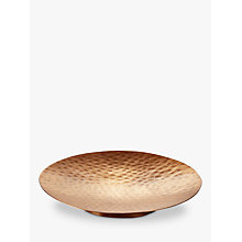 Buy John Lewis Hammered Copper Plate, Small Online at johnlewis.com