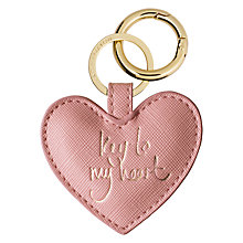 Buy Katie Loxton 'Key to my Heart' Keyring Online at johnlewis.com