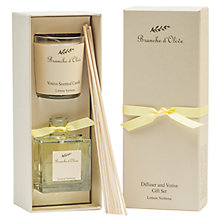 Buy Branche D'Olive Lemon Verbena Verve Diffuser & Votive Gift Set Online at johnlewis.com