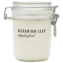 Buy Daylesford Jar Candle, Geranium Leaf Online at johnlewis.com