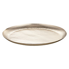 Buy John Lewis Hammered Large Plate Online at johnlewis.com
