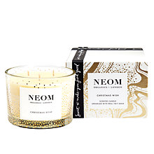 Buy Neom Christmas Wish 3 Wick Candle, 103.7g Online at johnlewis.com