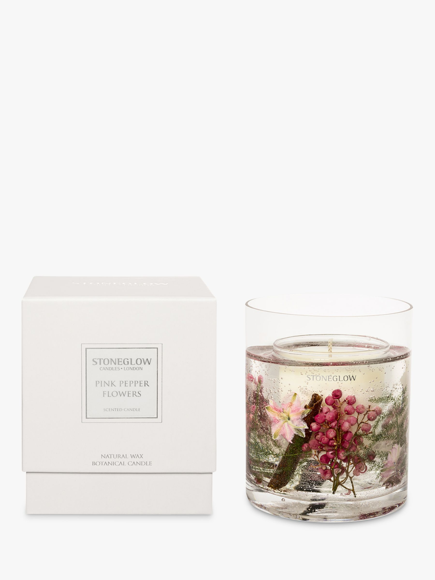 Stoneglow Stoneglow Pink Peppercorn Scented Gel Candle