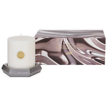 Buy Tom Dixon Alloy Scented Pillar Candle Online at johnlewis.com