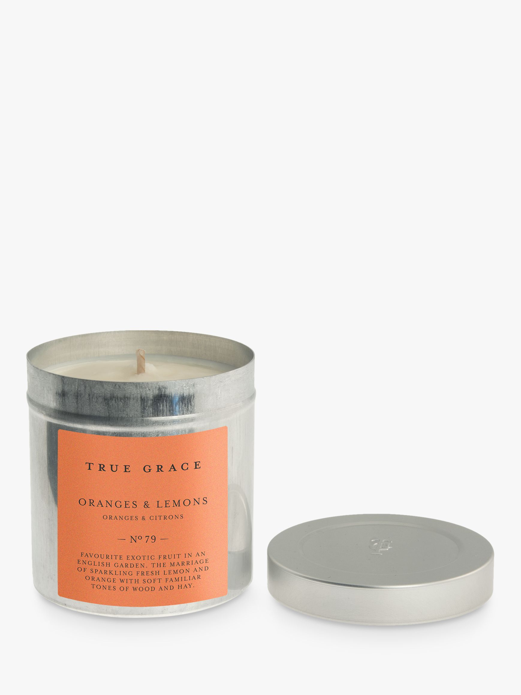 True Grace True Grace Oranges and Lemons Scented Candle Tin