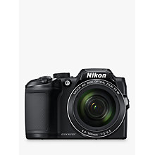 "Buy Nikon COOLPIX B500 Digital Camera, 16MP, HD 1080p, 40x Optical Zoom, Wi-Fi, Bluetooth, 3"" LCD Screen Online at johnlewis.com"