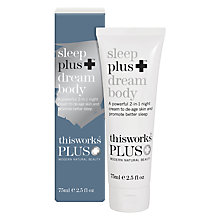 Buy This Works Sleep Plus+ Dream Body, 75ml Online at johnlewis.com