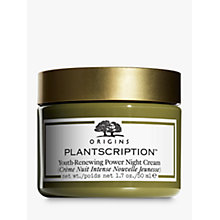 Buy Origins Plantscription™ Youth-Renewing Power Night Cream, 50ml Online at johnlewis.com