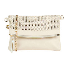Buy Oasis Cut Out Clutch Bag, Off White Online at johnlewis.com