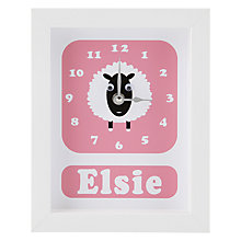 Buy Stripey Cats Personalised Shirley Sheep Framed Clock, 23 x 18cm Online at johnlewis.com