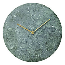 Buy Menu Marble Clock, Dia. 30cm Online at johnlewis.com