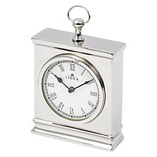 Buy Libra Amesbury Mantel Clock, Silver Online at johnlewis.com
