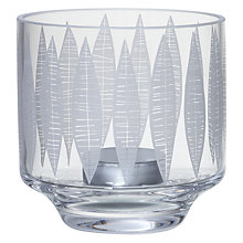 Buy MissPrint Glass Leaf Print Votive Online at johnlewis.com