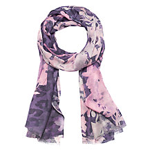 Buy Lola Rose Orient Haze Floral Wool Blend Scarf, Purple/Pink Online at johnlewis.com