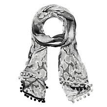 Buy Lola Rose Aquarius Leopard Scarf, Grey Online at johnlewis.com