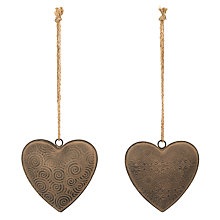 Buy John Lewis Hanging Heart Decoration, Iron Online at johnlewis.com