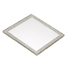 Buy Glitter Candle Small Plate, Silver Online at johnlewis.com