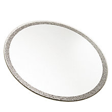 Buy Glitter Candle Plate Large, Silver Online at johnlewis.com