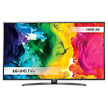 "Buy LG 43UH661V LED HDR 4K Ultra HD Smart TV, 43"" With Freeview HD/freesat HD & Metallic Design +  Sound Bar & Subwoofer Online at johnlewis.com"