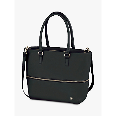 Wenger Eva Expandable Tote Bag with Removable 13 Laptop Sleeve Black