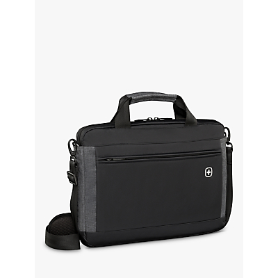"Image of Wenger Incline 16"" Laptop Slim Briefcase with Tablet Pocket, Black"