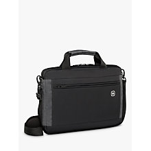 "Buy Wenger Incline 16"" Laptop Slim Briefcase with Tablet Pocket, Black Online at johnlewis.com"