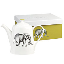 Buy Harlequin Elephant Teapot, White / Black Online at johnlewis.com