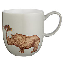 Buy Avenida Home Puddin' Head Rhino Mug, Grey Online at johnlewis.com