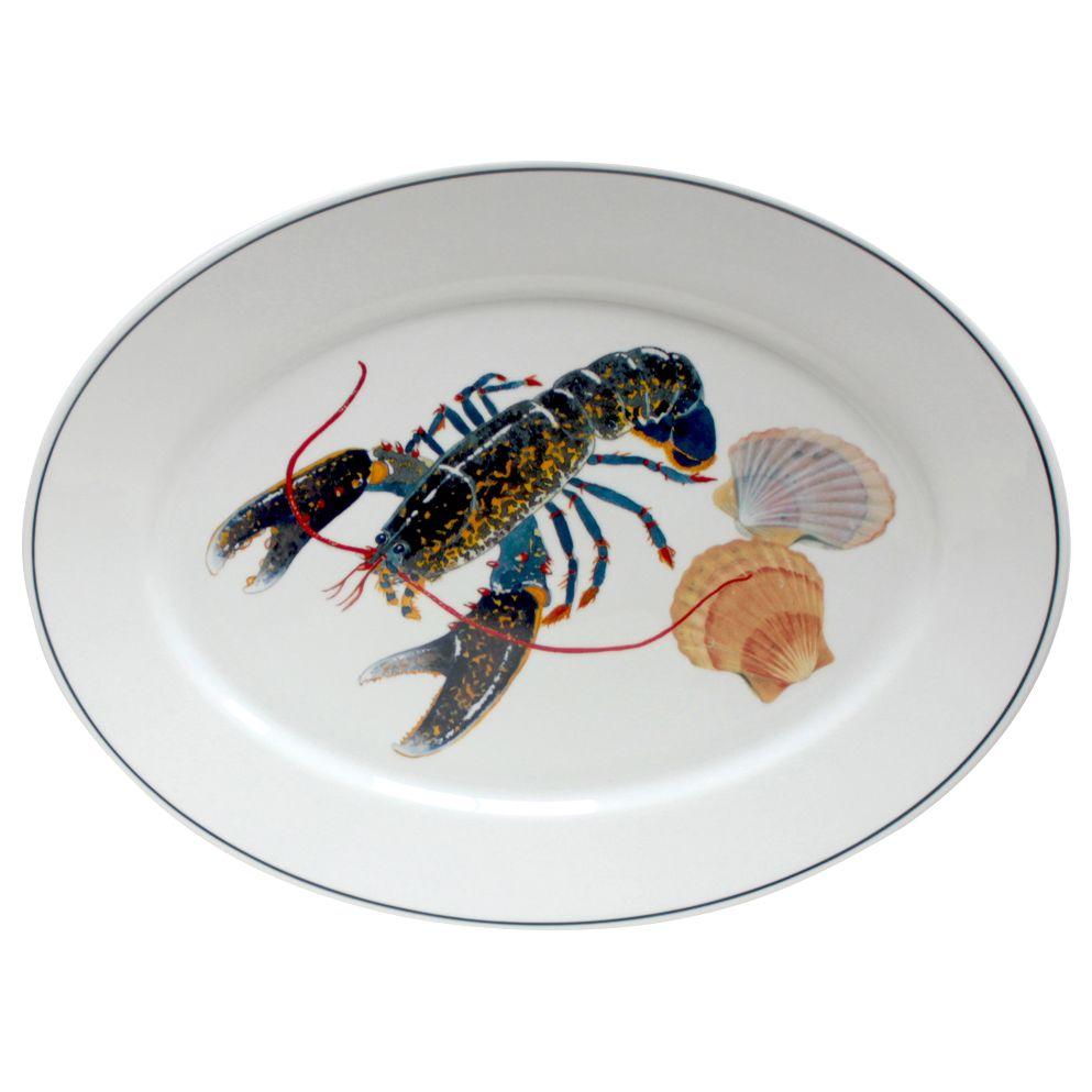 Jersey Pottery Jersey Pottery Seaflower Lobster Platter, Large