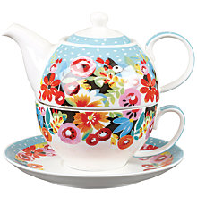Buy Collier Campbell Flowerdrop 'Tea For One' Set Online at johnlewis.com