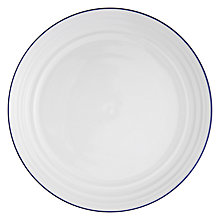 Buy John Lewis Coastal 27.5cm Dinner Plate, Set of 6, White / Blue Online at johnlewis.com